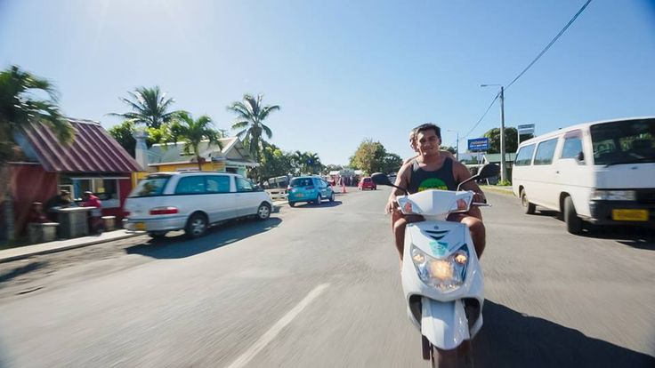 Cruising Rarotonga Island style!  Rent a scooter from Polynesian Rental Cars and see the island the way the locals do.