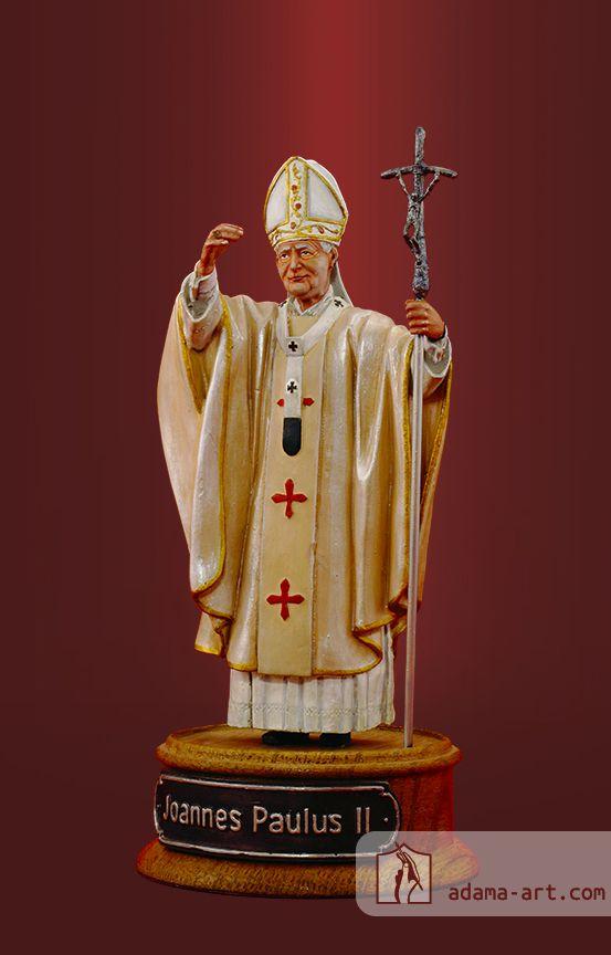Папа Римский Иоанн Павел II (223r) Оловянная миниатюра, Художественная роспись Высота статуэтки: 130мм