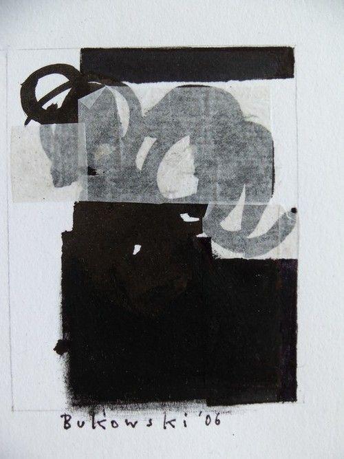 "dailyartjournal:    Ute Bukowski, ""Black Mini"", Acrylic on paper"