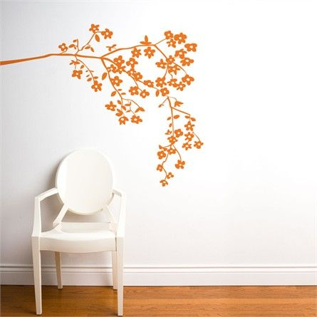 On Sale Coastline Blossoms in Light Orange Wall Decal