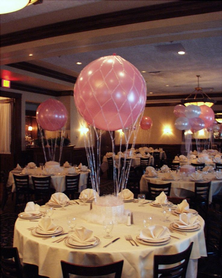 25 best ideas about balloon centerpieces wedding on for Balloon nets for centerpieces