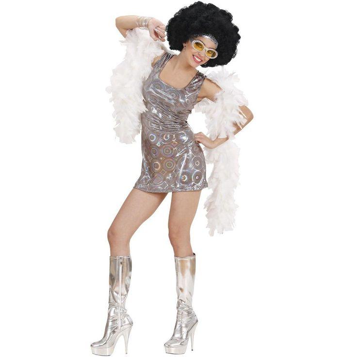 Jetzt ist Disco Fever angesagt: Mit diesem sexy 70er Jahre Disco Diva Kostüm für Damen werden Sie sicher den ein oder anderen Disco King schwach machen! Das freche Minikleid in Silber mit im Licht farblich changierenden Kreisen bietet viele Styling-Möglichkeiten. Sie können es für eine Motto-Party prima mit weiteren Kleidungsstücken in psychedelischen Mustern und zusätzlichen Hippie-Accessoires wie Sonnenbrille und Afroperücke kombinieren, fertig ist die 70er Jahre Disco Diva. Möchten Sie…