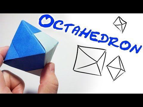 Modular Origami Oktaeder Octahedron (4 units) - YouTube