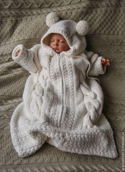 """Для новорожденных, ручной работы. Ярмарка Мастеров - ручная работа Конверт """"Морозное утро"""". Handmade."""
