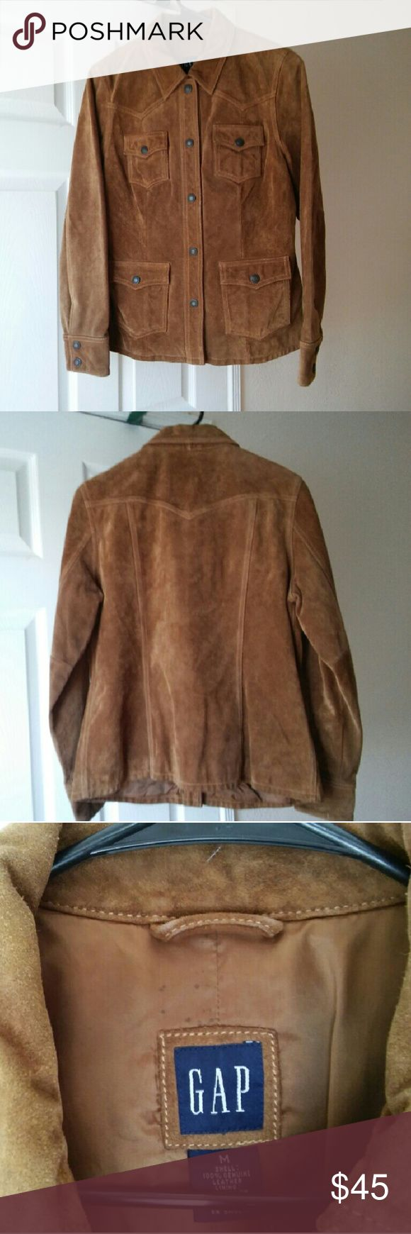 GAP Brown suede Leather Jacket M Jacket in pre-owned good condition. GAP Jackets & Coats