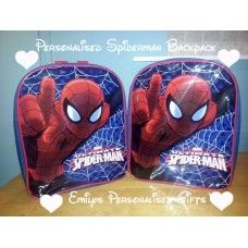 Lovely and Personalised Spiderman backpack £9.00 plus p+p (Personalised with fabric paint and covered in a fixing solution)