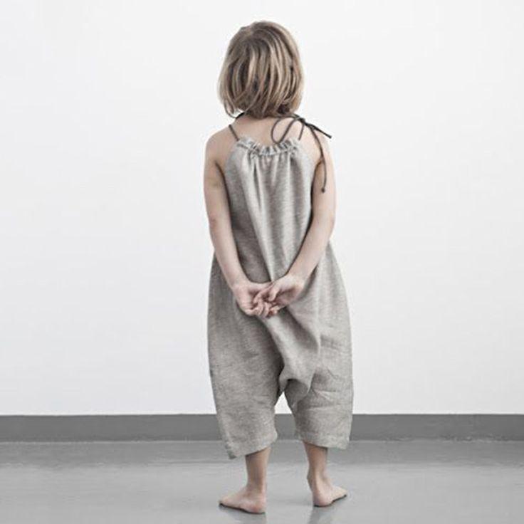 Girls Summer Soft Cotton Jumpsuit