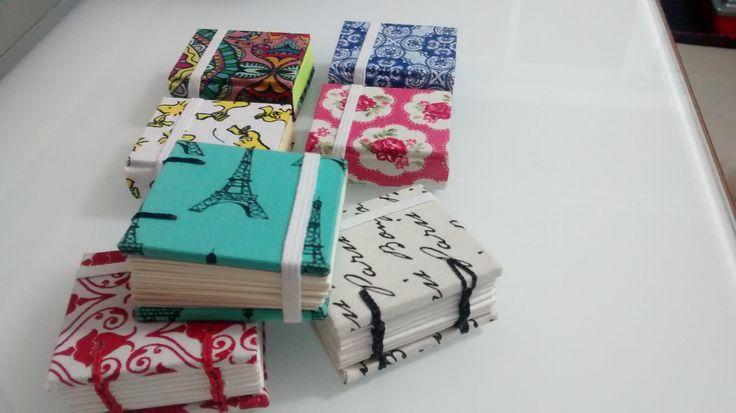 Post it e caderninhos com costura copta