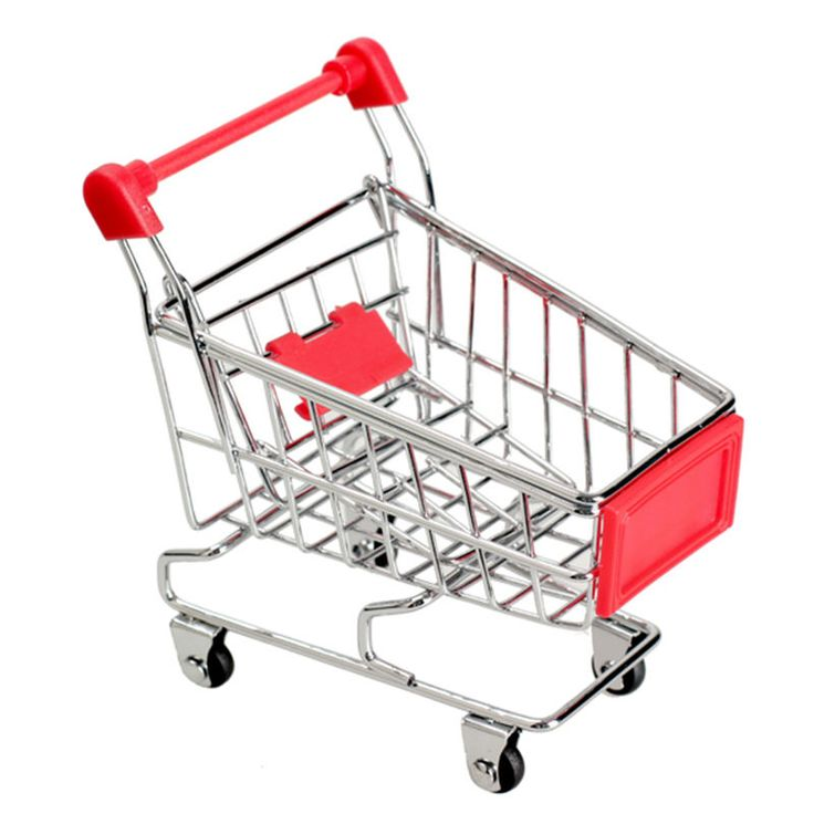 $7.05 - Awesome Mini Trolley Toy Supermarket Handcart Baby Toys Utility Carts Storage Folding Shopping Cart Basket Toys for Children Boys - Buy it Now!