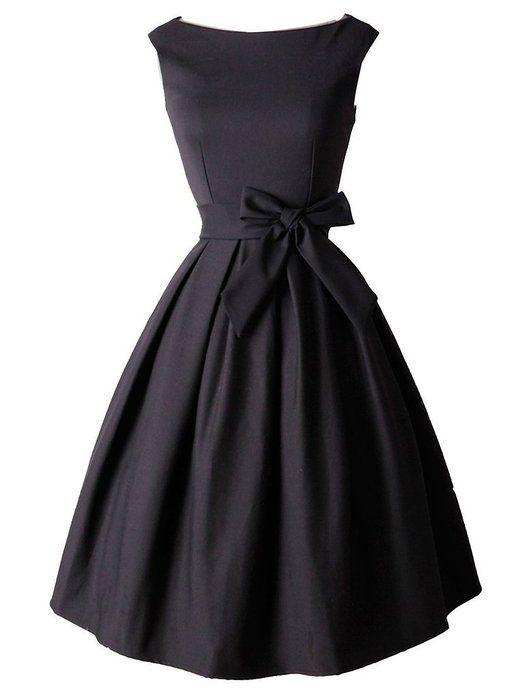 Eyekepper Robe courte classique annee 50 Vintage robe de femme a noeud de papillon
