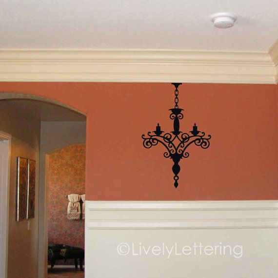 Chandelier wall decal elegant girls bedroom by LivelyLettering