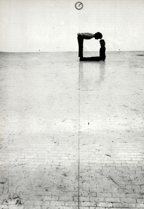 "♂ black & white 90 degree klaus rinke - ""Time-Space-Body and Action"" Gallery L'Attico in Rome 1972"