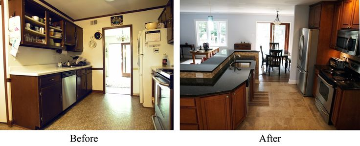 Mobile home remodels before and after krizek before and for Remodeling a modular home