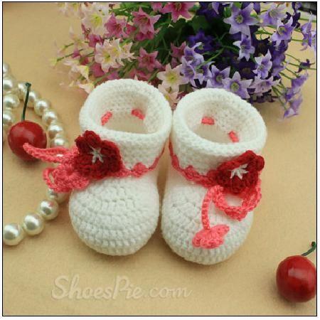 #Cute #Flower #Lace-Up #Baby Solt Bootm #Shoes