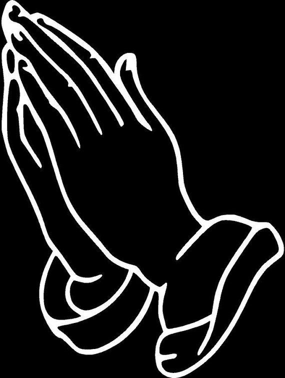 Praying Hands Prayer Religious Die Cut Vinyl Decal