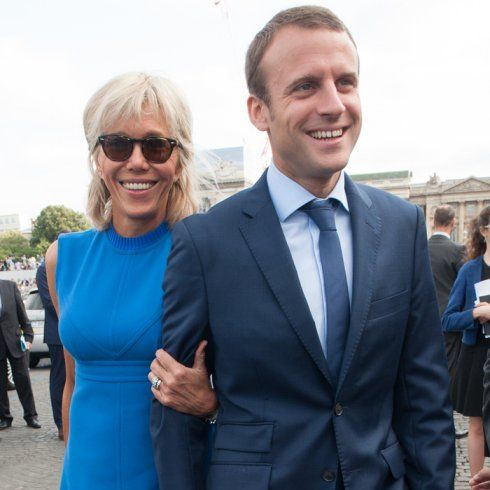 "Emmanuel Macron et Brigitte Trogneux (24 years his senior...). Emmanuel Macron ""En Marche"" leader in France. Next youngest president? France 2017 elections"