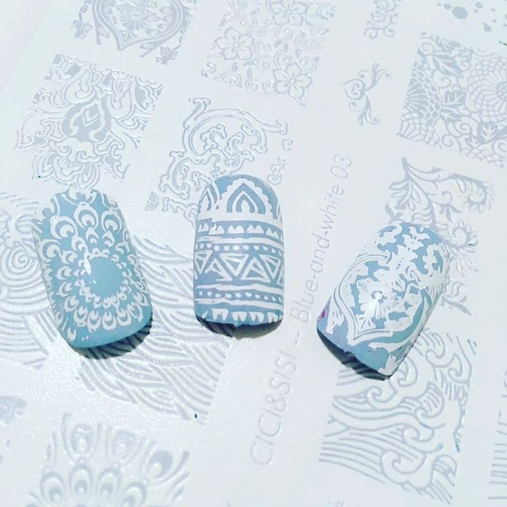 Keep thy heart with all diligence; for out of it are the issues of life. (Proverbs 4:23 KJV) #ciciandsisi blue-and-white stamping plate #pin #twitter #fb #nails #naildesign #nailart #nailstamp #stampingaddict #stampingnails