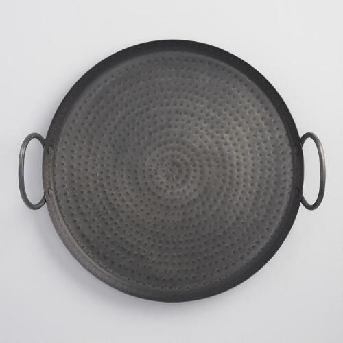One of my favorite discoveries at WorldMarket.com: Black Hammered Metal Serving Tray