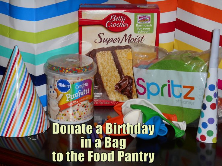 What I Made This Week - Birthday Party in a Bag for the Food Pantry