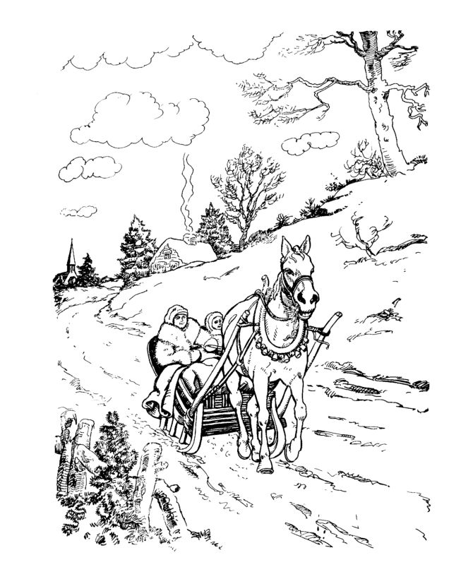 holiday horse coloring pages - photo#27