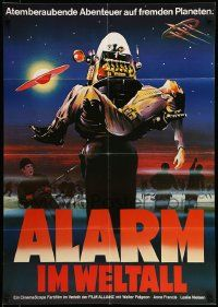 1c583 FORBIDDEN PLANET German R70s different art of Robby the Robot carrying Jack Kelly!