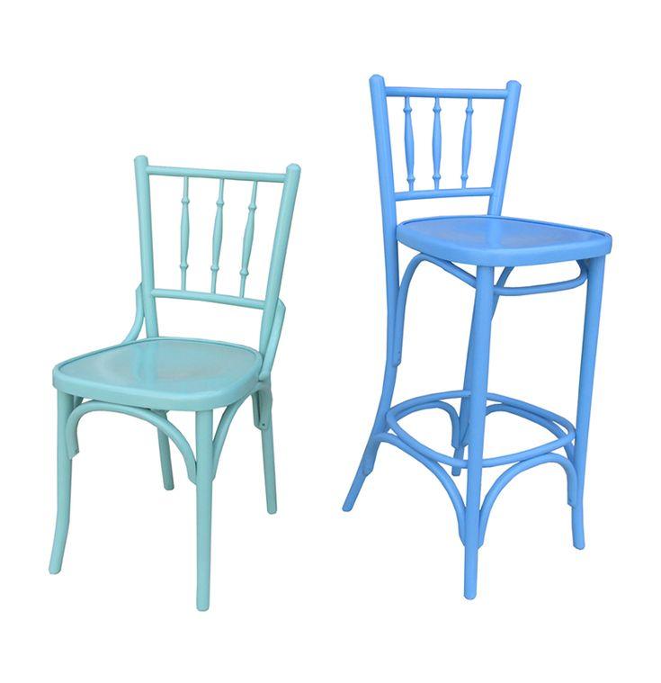 Scaun 6020 colorat, Mobirom, scaune din lemn curbat
