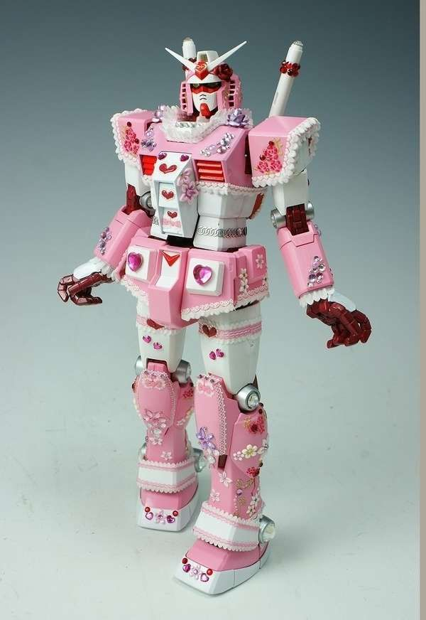 Macho Gundam Toys Turn Pink and Pretty for Female Fans #robot #toys trendhunter.com