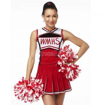 Mesdames Pom-Pom Girl Costume School Girl Tops + jupe deux pièces ensemble uniforme Déguisements