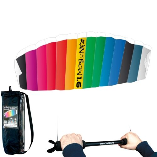 RHOMBUS Rainbow Design Parafoil Kite 160 x 55 cm