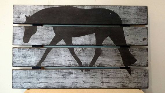 Wood pallet sign western pleasure hunter under by TheVinylCowgirl