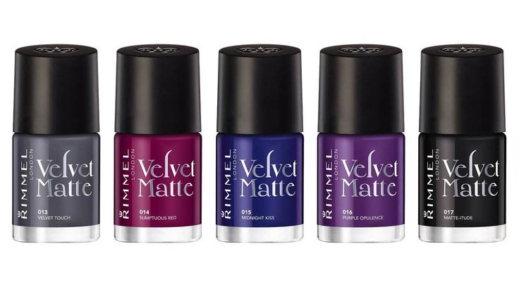 >> Rimmel Velvet Matte Collection Nail Polish Swatches & Review
