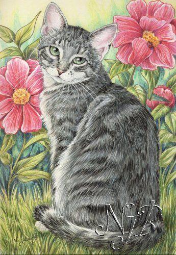 1000 id es propos de peintures de chat sur pinterest illustrations de chat peintures. Black Bedroom Furniture Sets. Home Design Ideas