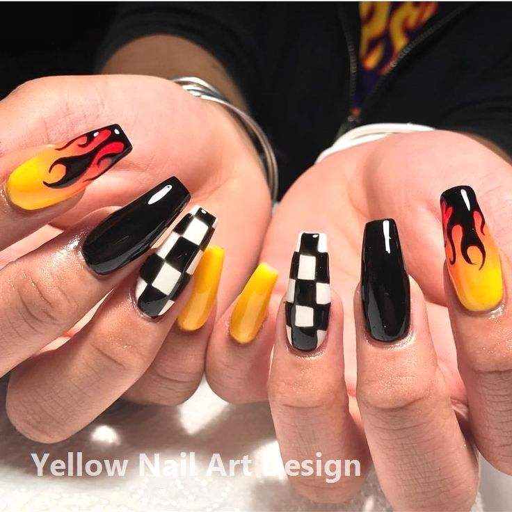 23 große gelbe Nail Art Designs 2019 1 #yellownails #nailartideas