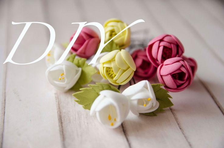 Мастер класс | Маленькие цветочки из фоамирана