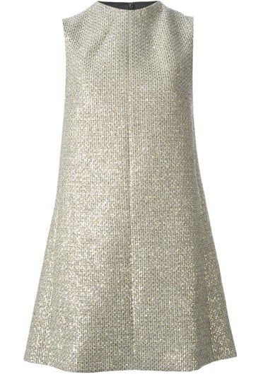 lamé tweed trapeze dress SAINT LAURENT  #alducadaosta #newarrivals #sixties #fever #trend #women #apparel #accessories #prints #colors #classy #style #fashion #fallwinter #fall #winter #collection #saintlaurent