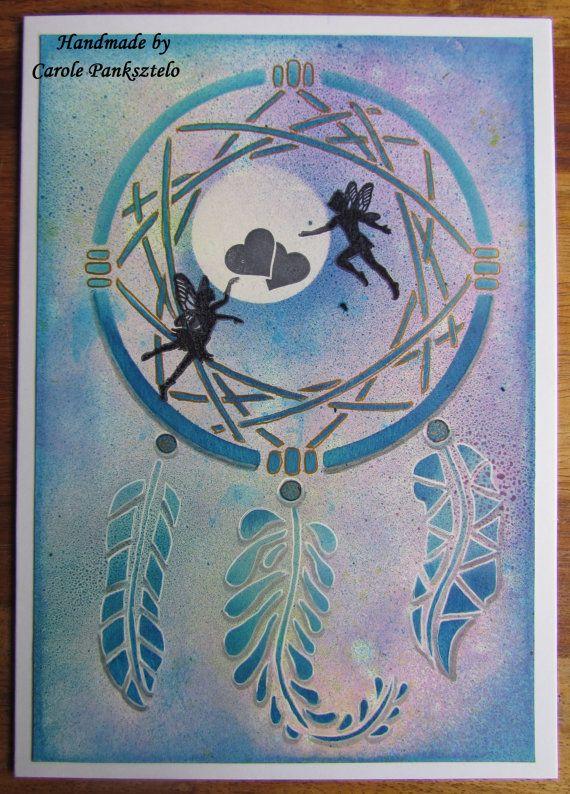 Handmade 8x6 Whimsical Fairy Dreamcatcher by CraftyMrsPanky