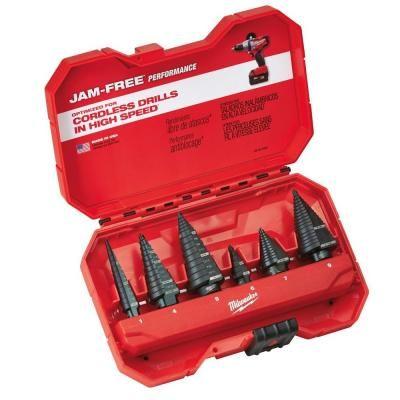 Milwaukee Step Drill Bit Kit (6-Piece)-48-89-9224 - The Home Depot