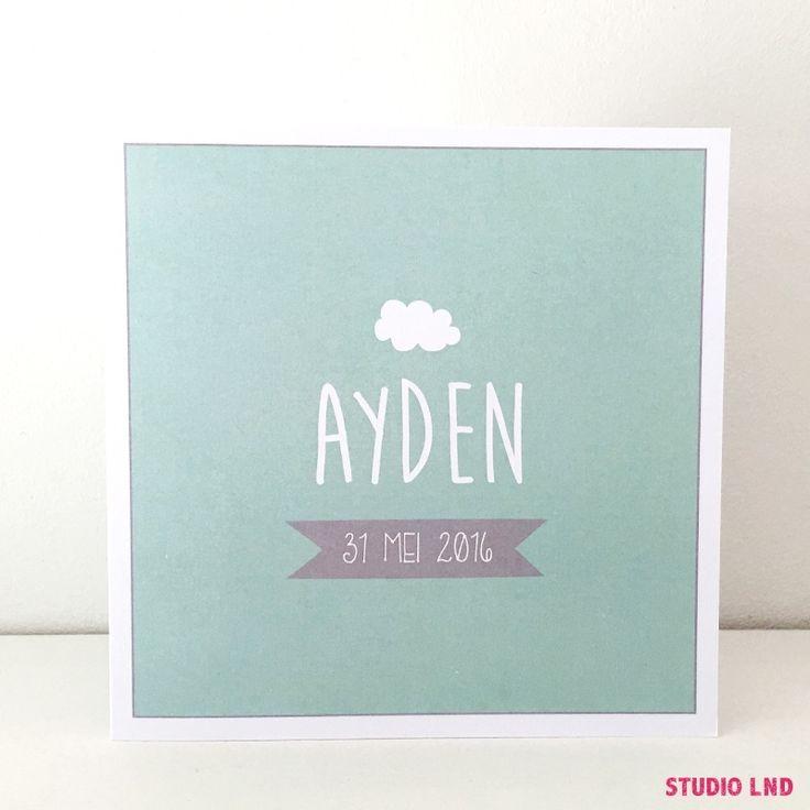 Geboortekaartje Ayden 31/05/2016