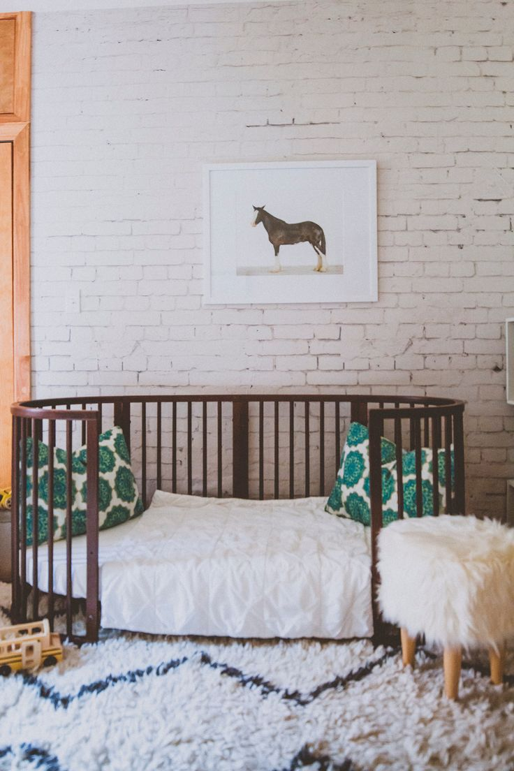 Stokke Sleepi Junior Bed in Walnut // Sustainable, beautiful modern furniture that grows from nursery to kids room