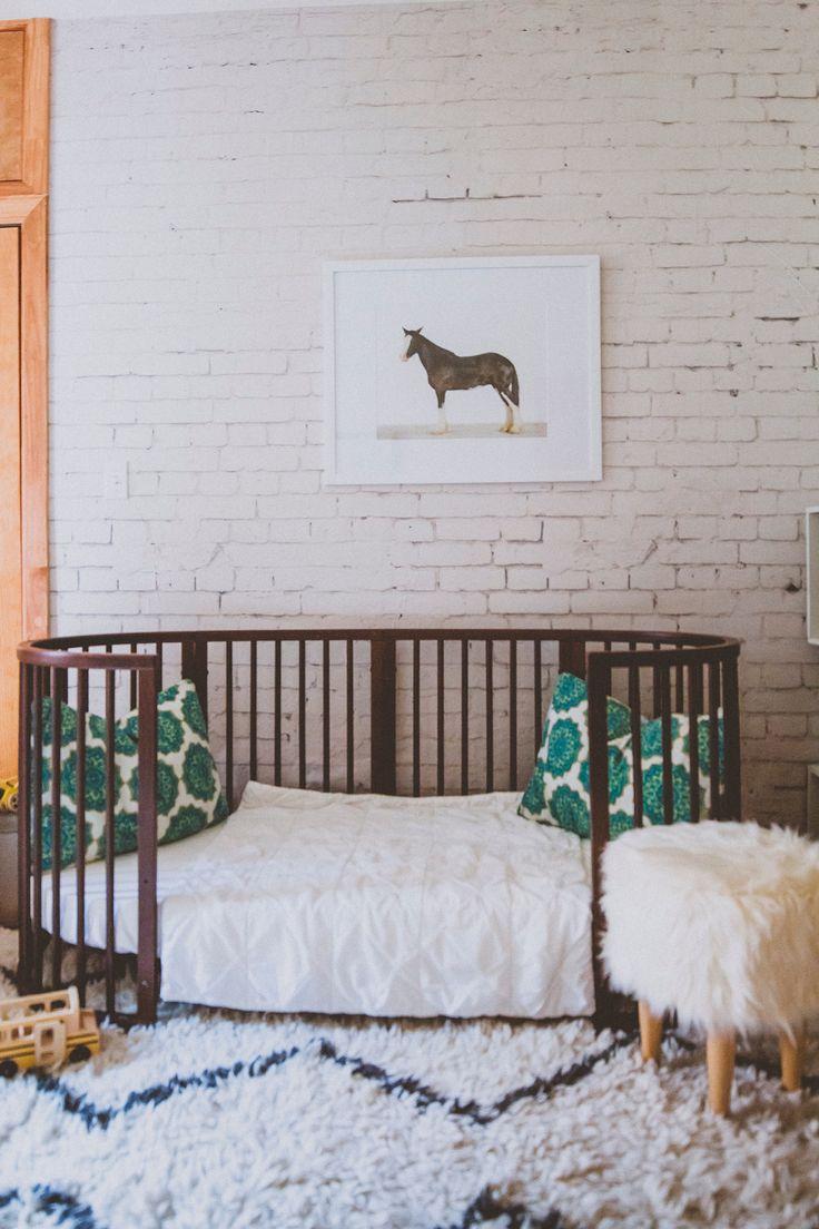 Stokke Sleepi Junior Bed in Walnut // Sustainable, beautiful modern furniture that grows from nursery to kids room