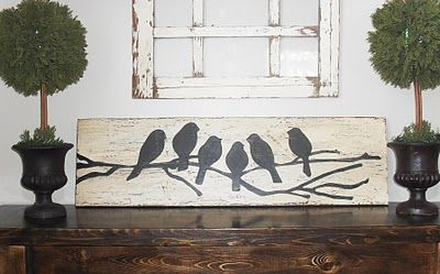DIY  Bird Silhouette Plaque  TUTORIAL