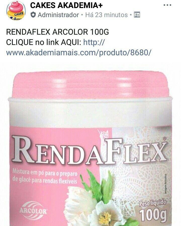 RENDAFLEX ARCOLOR 100G CLIQUE no link AQUI: http://www.akademiamais.com/produto/8680/