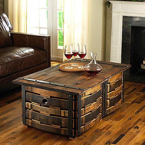 best 25+ wine barrel coffee table ideas on pinterest | wine barrel