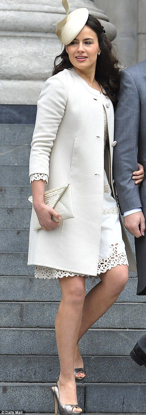 Cream of the crop: Sophie Winkleman in pale hues