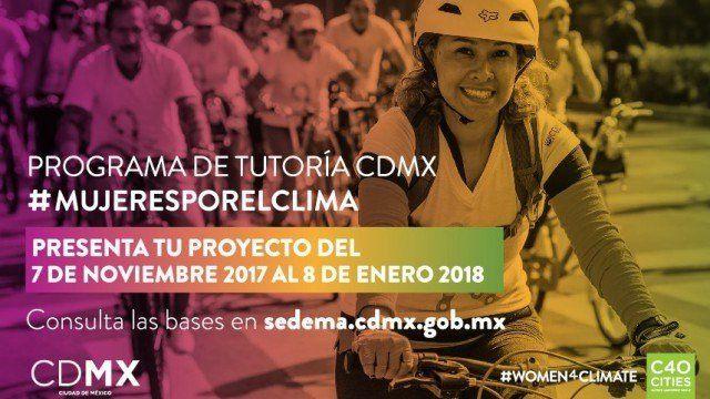 Convocatoria para el Programa de Tutoría de la CDMX Mujeres por el Clima