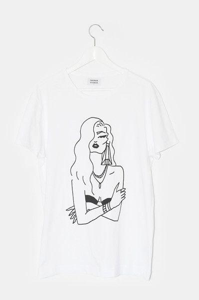 Lady by Diana Buraka for Ingmar Studio #dianaburaka #buraka #lady #tshirt #fashion #girlspower #strong #buraka #tattoo #ingmarstudio #frankfurt