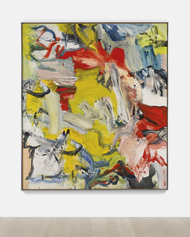 'Untitled XXI' 1976 Willem de Kooning. Installation view. Oil on canvas 80 x 70 in. (203.2 by 177.8 cm). A. Alfred Taubman estate auction Sotheby's 2015, estimate 25,000,000 — 35,000,000.