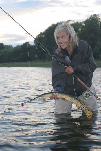 Beautiful Women Fishing