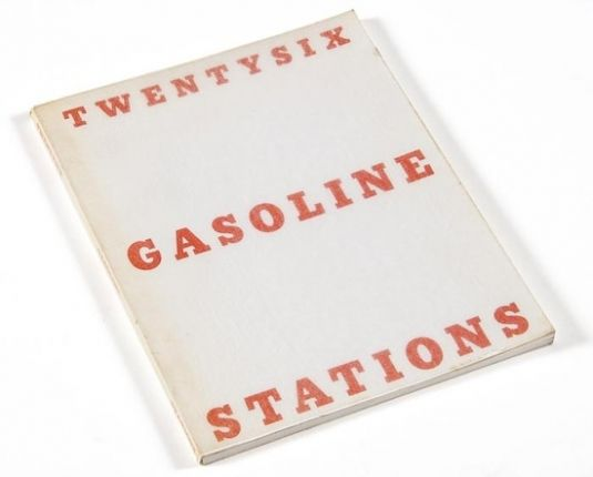 "Twentysix Gasoline Stations : Edward Ruscha, 1969. ""Photographs from this book inspired a number of the artist's paintings, drawings and prints of gas stations, Standard stations in particular."""