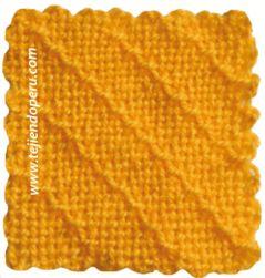 tutorial: telar cuadrado de mesa de 11 por 11 cm., punto líneas diagonales